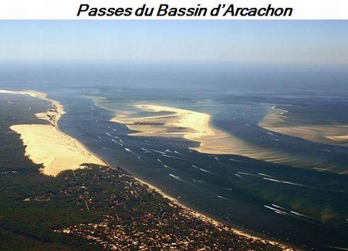Bassin d'Arcachon-Les passes-du-Bassin