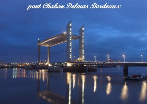 Bordeaux-Pont Chaban-Delmas-nuit
