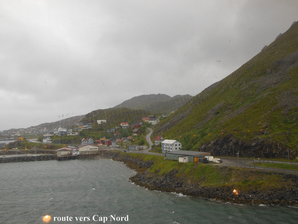 route vers Cap Nord
