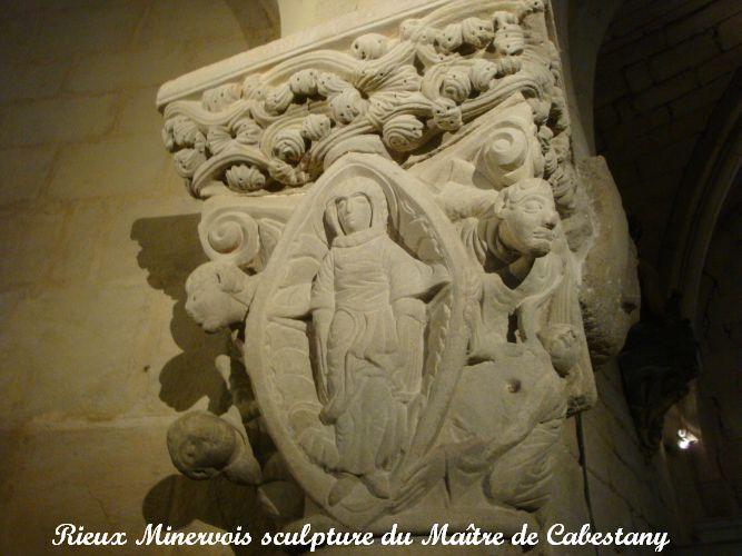 04chapiteau église romane Rieux minervois du maitre de Cabestany