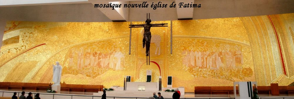 39 mosaique Fatima église moderne