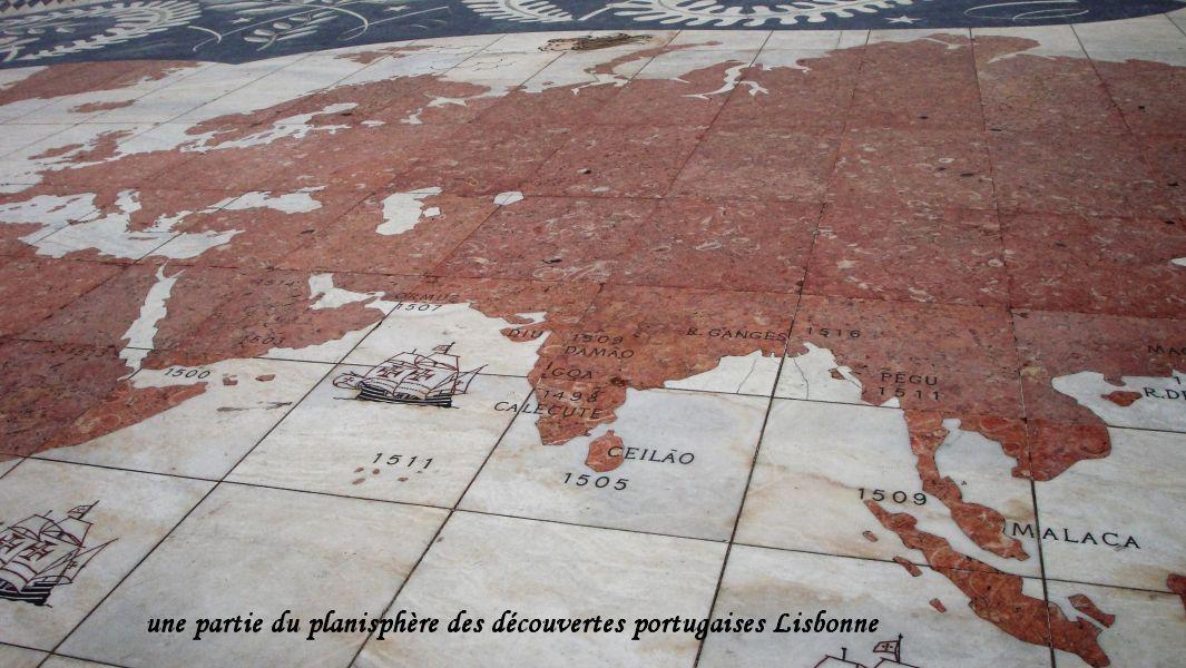 54 planisphère découvertes portugaises Indes