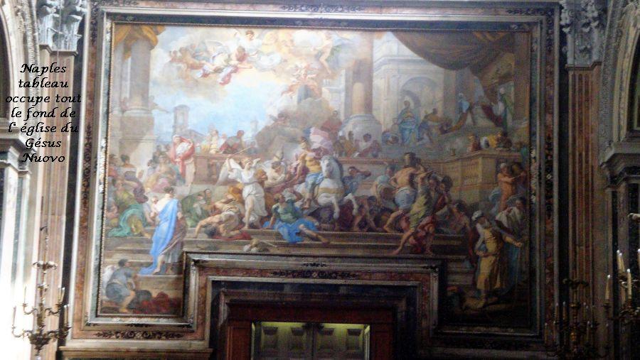05 Naples Gésus Nuevo tableau couvre tout le mur du fond